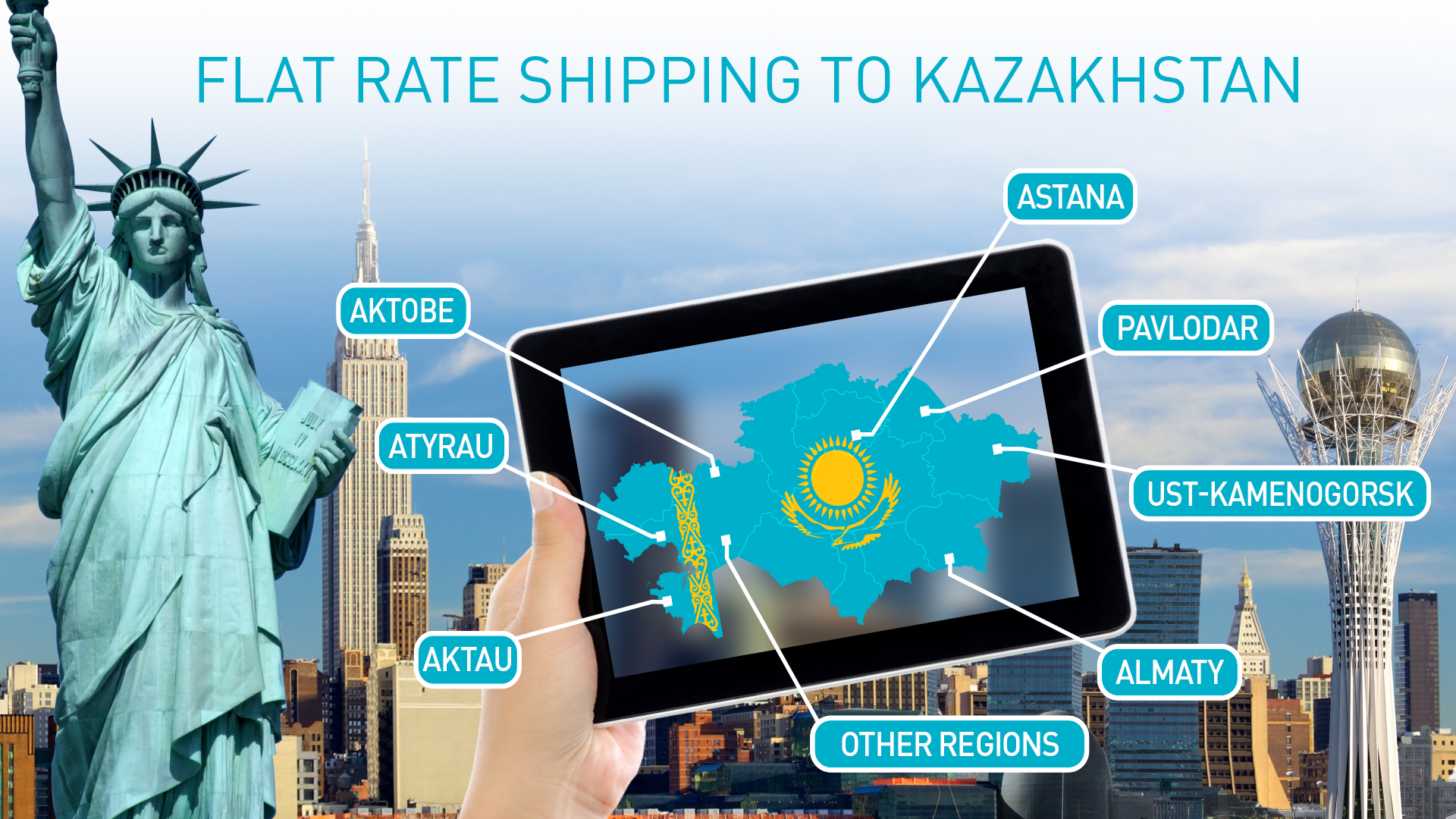 Flat Rate Shipping Now Available for Amazon Prime Products to Kazakhstan
